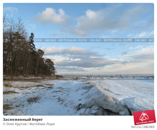 Заснеженный берег, фото № 240063, снято 23 февраля 2008 г. (c) Олег Крутов / Фотобанк Лори
