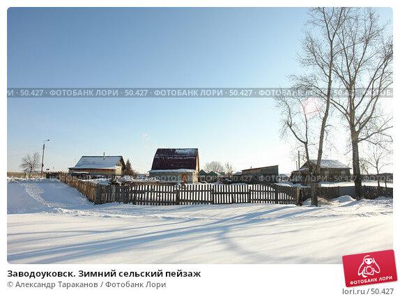 Заводоуковск. Зимний сельский пейзаж, фото № 50427, снято 21 февраля 2017 г. (c) Александр Тараканов / Фотобанк Лори