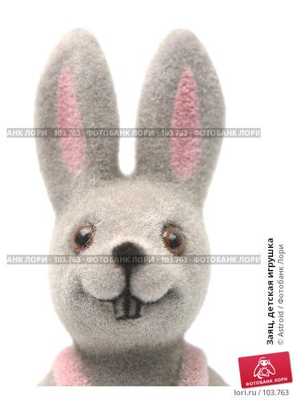 Купить «Заяц, детская игрушка», фото № 103763, снято 23 апреля 2018 г. (c) Astroid / Фотобанк Лори