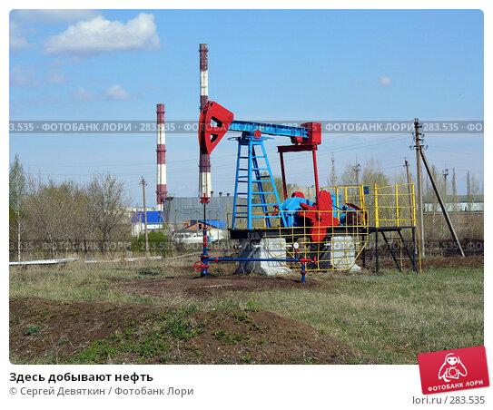 Здесь добывают нефть, фото № 283535, снято 25 апреля 2008 г. (c) Сергей Девяткин / Фотобанк Лори