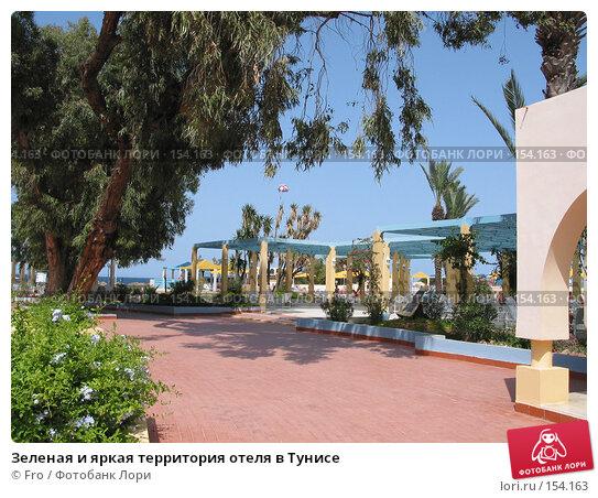 Зеленая и яркая территория отеля в Тунисе, фото № 154163, снято 21 июня 2004 г. (c) Fro / Фотобанк Лори