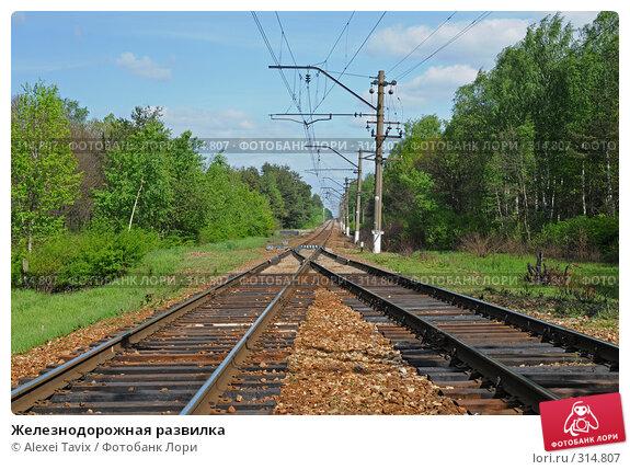 Железнодорожная развилка, фото № 314807, снято 26 мая 2008 г. (c) Alexei Tavix / Фотобанк Лори