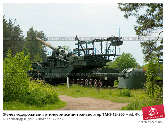 железнодорожный артиллерийский транспортер