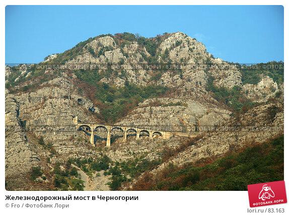 Железнодорожный мост в Черногории, фото № 83163, снято 26 мая 2017 г. (c) Fro / Фотобанк Лори