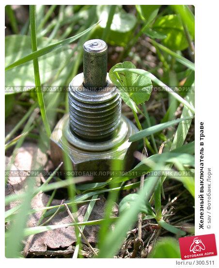 Железный выключатель в траве, фото № 300511, снято 15 мая 2005 г. (c) sav / Фотобанк Лори