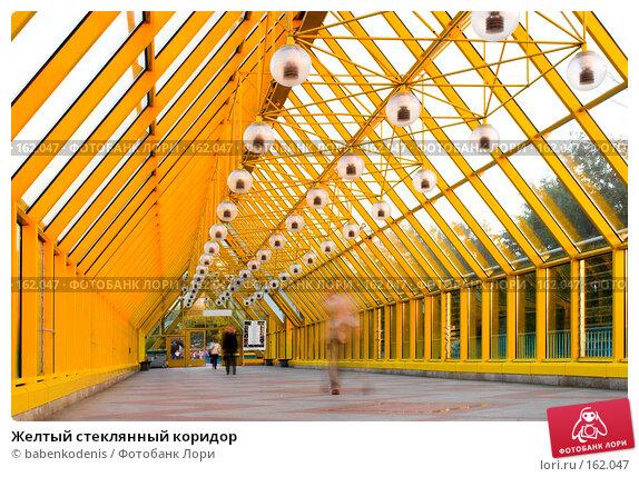Желтый стеклянный коридор, фото № 162047, снято 25 сентября 2007 г. (c) Бабенко Денис Юрьевич / Фотобанк Лори