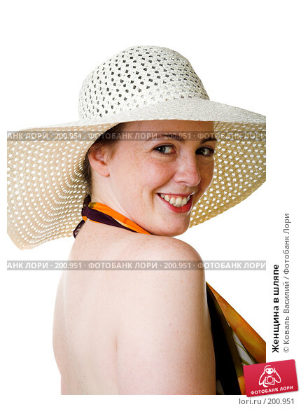 Женщина в шляпе, фото № 200951, снято 19 июля 2007 г. (c) Коваль Василий / Фотобанк Лори