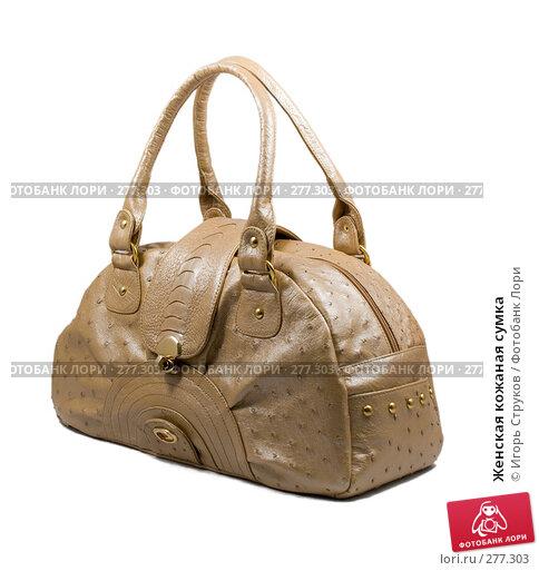 Женская кожаная сумка, фото № 277303, снято 29 апреля 2008 г. (c) Игорь Струков / Фотобанк Лори