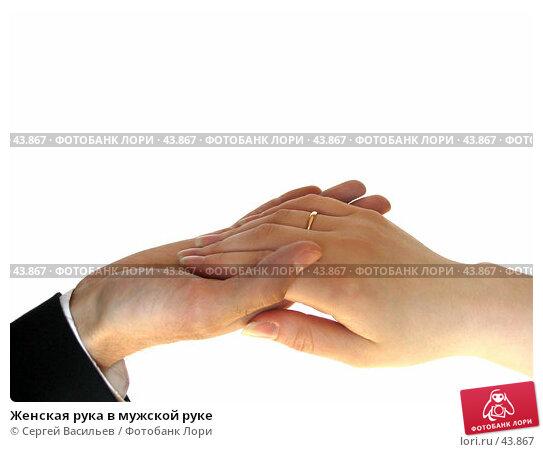 Женская рука в мужской руке, фото № 43867, снято 13 мая 2007 г. (c) Сергей Васильев / Фотобанк Лори