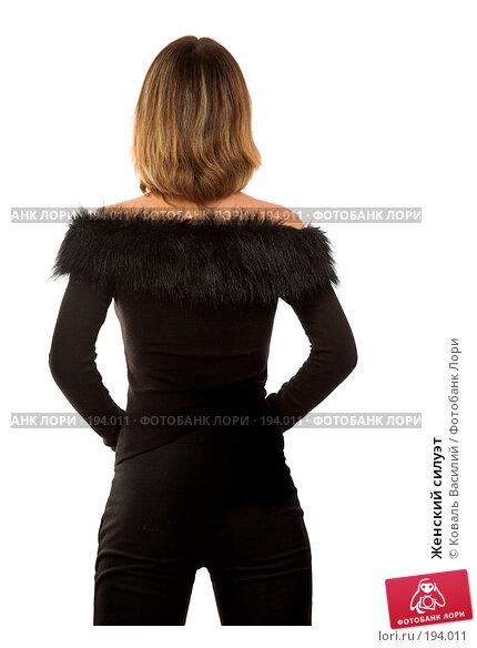 Женский силуэт, фото № 194011, снято 21 декабря 2006 г. (c) Коваль Василий / Фотобанк Лори