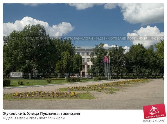 Жуковский. Улица Пушкина, гимназия, фото № 40291, снято 4 июля 2005 г. (c) Дарья Олеринская / Фотобанк Лори