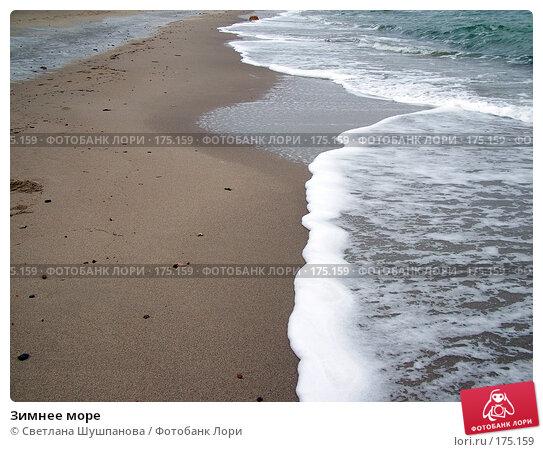 Зимнее море, фото № 175159, снято 8 января 2006 г. (c) Светлана Шушпанова / Фотобанк Лори
