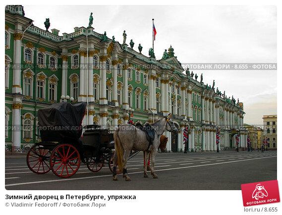 Зимний дворец в Петербурге, упряжка, фото № 8655, снято 31 мая 2005 г. (c) Vladimir Fedoroff / Фотобанк Лори
