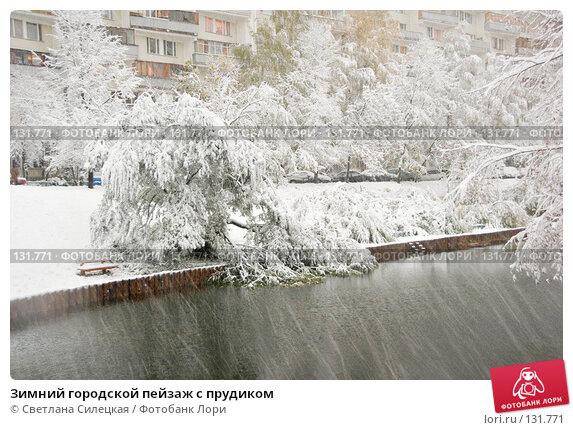 Зимний городской пейзаж с прудиком, фото № 131771, снято 15 октября 2007 г. (c) Светлана Силецкая / Фотобанк Лори