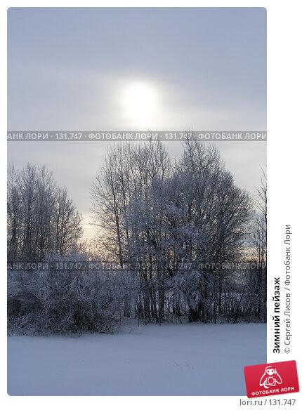Зимний пейзаж, фото № 131747, снято 3 февраля 2007 г. (c) Сергей Лисов / Фотобанк Лори