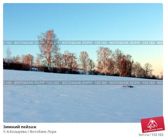 Зимний пейзаж, фото № 133163, снято 23 октября 2016 г. (c) A.Козырева / Фотобанк Лори