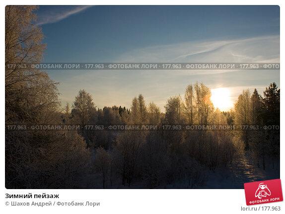 Зимний пейзаж, фото № 177963, снято 9 января 2008 г. (c) Шахов Андрей / Фотобанк Лори