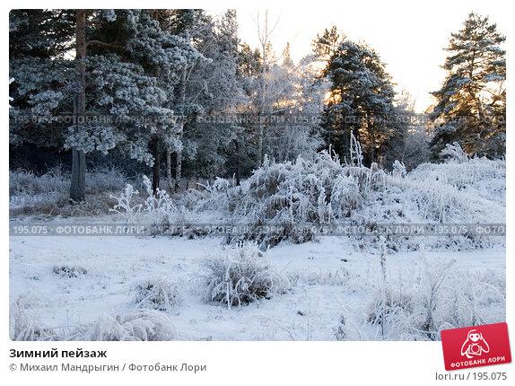 Зимний пейзаж, фото № 195075, снято 17 декабря 2007 г. (c) Михаил Мандрыгин / Фотобанк Лори
