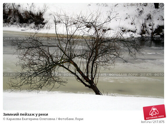 Зимний пейзаж у реки, фото № 217875, снято 8 февраля 2008 г. (c) Карасева Екатерина Олеговна / Фотобанк Лори