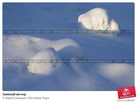 Купить «Зимний вечер», фото № 98031, снято 12 февраля 2007 г. (c) Юрий Синицын / Фотобанк Лори