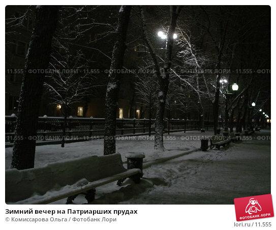 Купить «Зимний вечер на Патриарших прудах», фото № 11555, снято 11 декабря 2005 г. (c) Комиссарова Ольга / Фотобанк Лори
