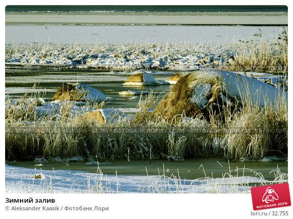 Купить «Зимний залив», фото № 32755, снято 19 апреля 2018 г. (c) Aleksander Kaasik / Фотобанк Лори