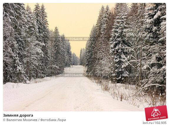 Зимняя дорога, фото № 102935, снято 25 сентября 2017 г. (c) Валентин Мосичев / Фотобанк Лори