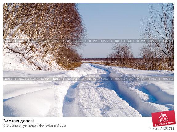 Зимняя дорога, фото № 185711, снято 2 февраля 2007 г. (c) Ирина Игумнова / Фотобанк Лори