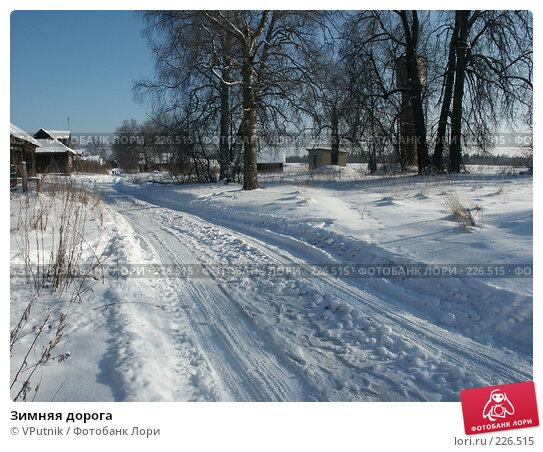 Зимняя дорога, фото № 226515, снято 8 февраля 2007 г. (c) VPutnik / Фотобанк Лори