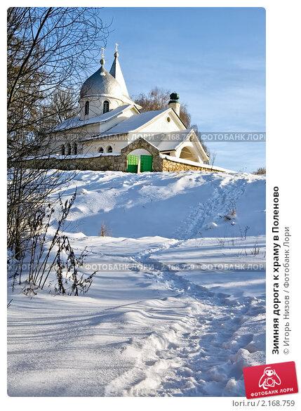 Купить «Зимняя дорога к храму в Поленово», эксклюзивное фото № 2168759, снято 7 февраля 2010 г. (c) Игорь Низов / Фотобанк Лори
