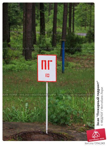 """Знак """"Пожарный гидрант"""", фото № 314243, снято 17 мая 2008 г. (c) ФЕДЛОГ.РФ / Фотобанк Лори"""