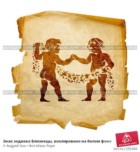 Знак зодиака Близнецы, изолировано на белом фоне, иллюстрация № 219003 (c) Андрей Зык / Фотобанк Лори