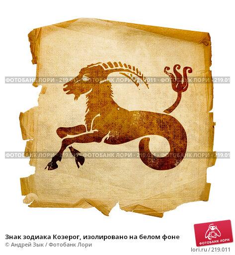 Знак зодиака Козерог, изолировано на белом фоне, иллюстрация № 219011 (c) Андрей Зык / Фотобанк Лори
