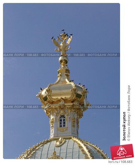 Золотой купол, фото № 108683, снято 6 августа 2004 г. (c) Efanov Aleksey / Фотобанк Лори
