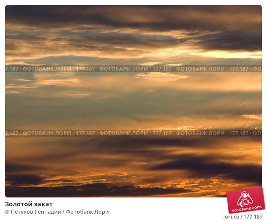 Купить «Золотой закат», фото № 177187, снято 2 сентября 2007 г. (c) Петухов Геннадий / Фотобанк Лори