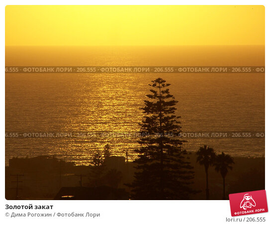 Золотой закат, фото № 206555, снято 8 августа 2006 г. (c) Дима Рогожин / Фотобанк Лори